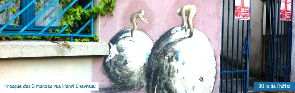 La fresque des 2 mondes